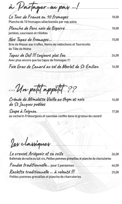 Le-menu estival-Le Bis restaurant vins et fromages - st emilion